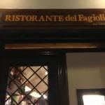 ファジョーリ(Del Fagioli a Firenze):フィレンツェのおいしいレストラン